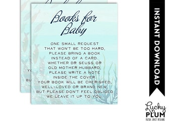 Whale Book Card / Whale Book Card / Whale Book for Baby / Whale Book Insert / Whale Bring A Book / Nautical Ocean / DIY Printable WH02