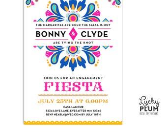 Fiesta Engagement Invite / Engagement Invitation / Mexican Fiesta Invite / Fiesta Invite / Fiesta Wedding Invite / Digital