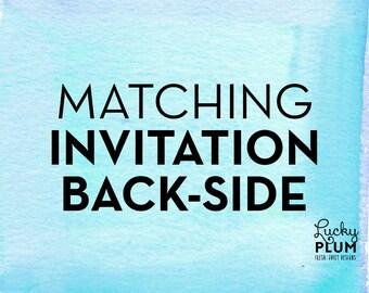 Matching Back Side Design / Printable DIY / *Digital Design