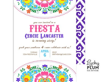 Fiesta Birthday Invitation / Fiesta Baby Shower Invitation / Fiesta Bridal Shower Invitation / Mexican Birthday Invitation / Digital