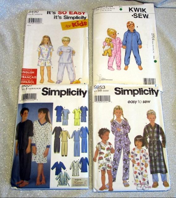 Mädchen & jungen Pyjama Schnittmuster Größen 3 bis 16 | Etsy