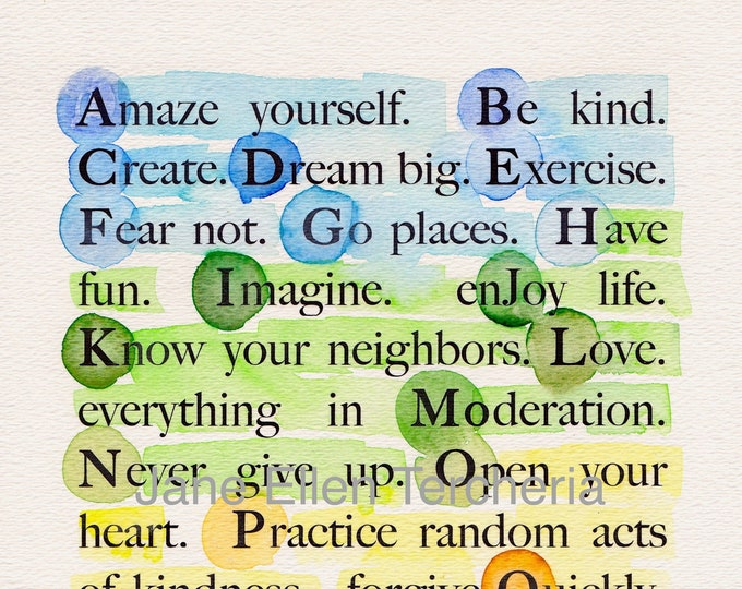 Be Happy Giclee Print