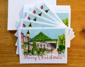 Christmas Cards - Train Station, Southern Pines, NC