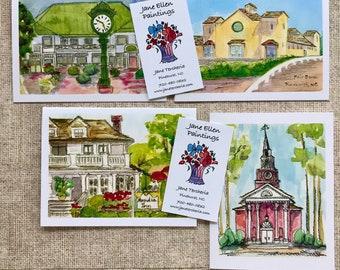 Village of Pinehurst - Pack of 8 Cards