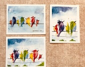 Birds On A Wire - Box of 6 Cards