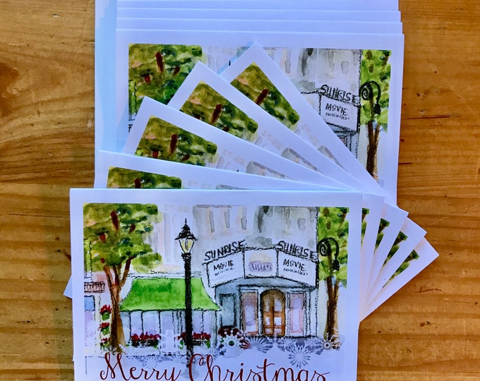 Christmas Cards - Sunrise Theater, Southern Pines, NC.