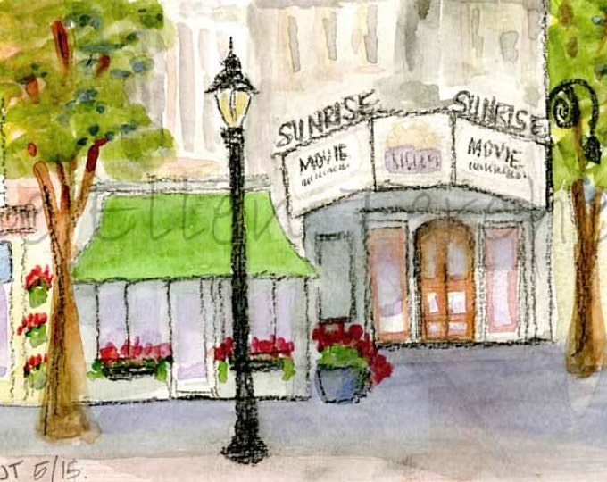 Sunrise Theater, Southern Pines, NC Giclee Print