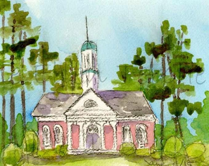 Given Memorial Library, Village of Pinehurst, NC Giclee Print