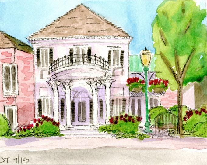 Bank Building, Village of Pinehurst, NC Giclee Print