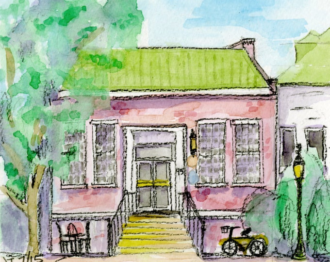 Given Outpost and Roast Office, Village of Pinehurst, NC Giclee Print