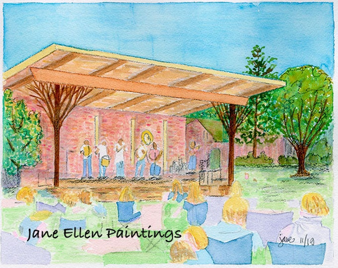 First Bank Stage at the Sunrise - Southern Pines, NC Giclee Print