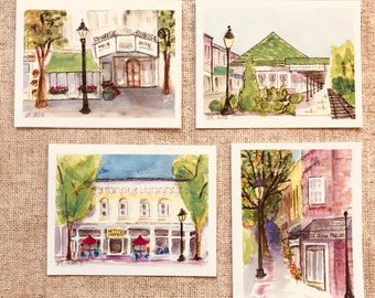 Town of Southern Pines - Pack of 8 Cards