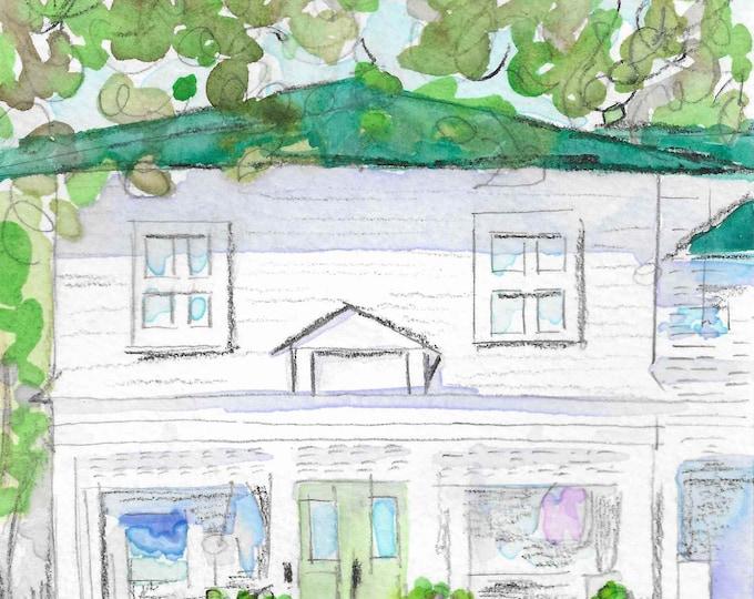 Village Shop, Village of Pinehurst, NC Giclee Print