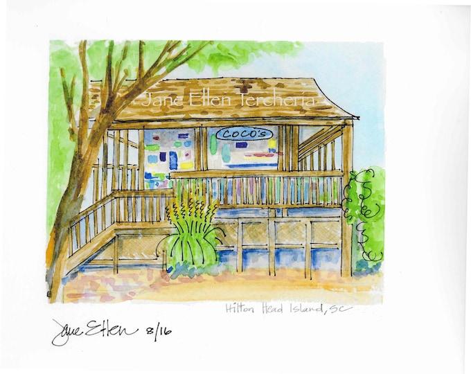 Coco's - Hilton Head Island, SC Giclee Print