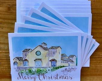 Christmas Cards - The Fair Barn, Pinehurst, NC.