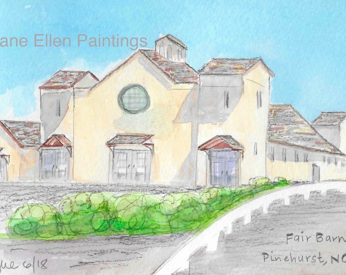 Fair Barn, Village of Pinehurst, NC Giclee Print