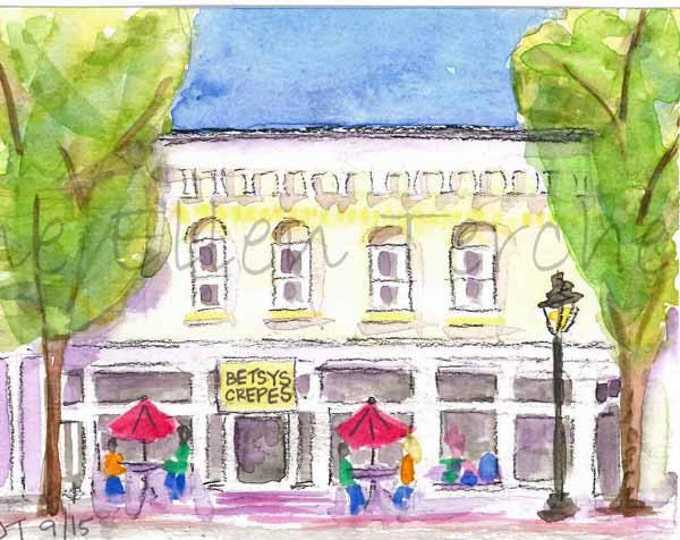 Betsy's Crepes - Southern Pines, NC Giclee Print