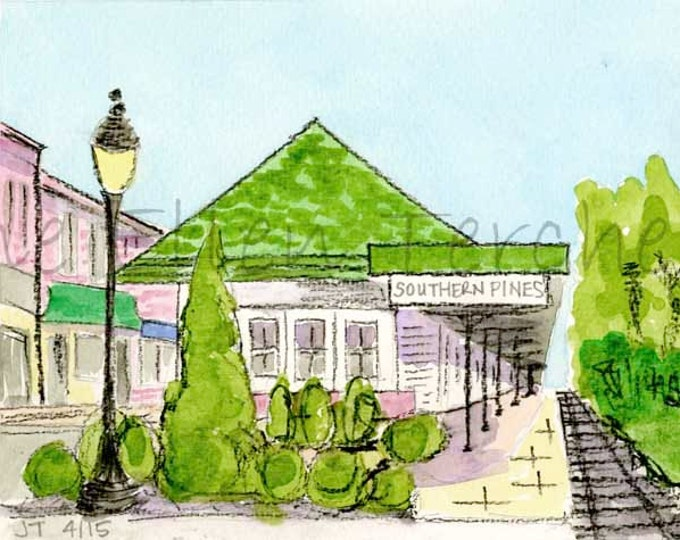 Train Station, Southern Pines, NC Giclee Print