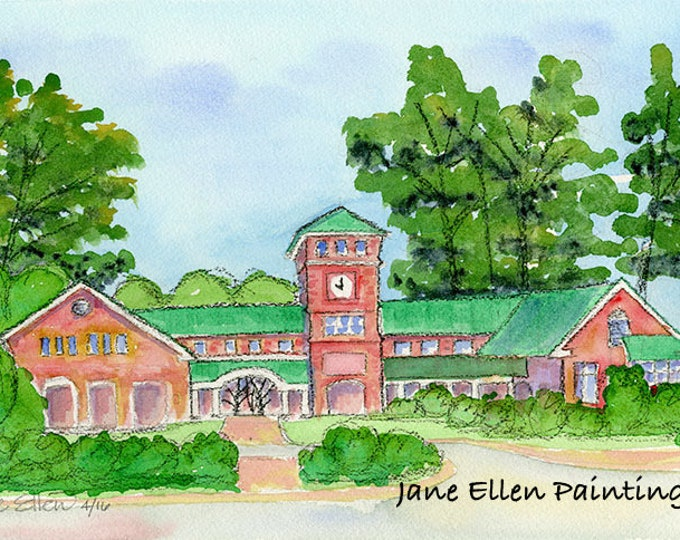 Village Offices - Village of Pinehurst, NC Giclee Print