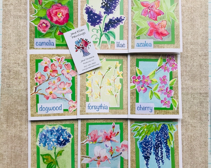 Southern Spring Flowers - Box 9 Cards