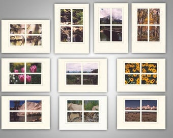 Window Pane Photo Note Cards (pack of 10)