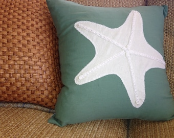 Starfish Nautical Throw Pillow