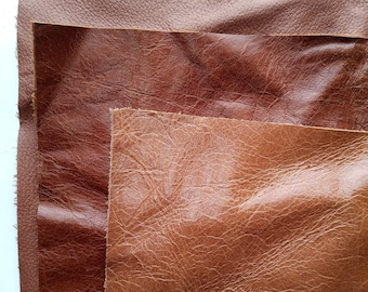 Real leather pieces, A4 pack of three.