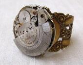 Steampunk MENS Big Bold Brass 'Fidget'  Ring