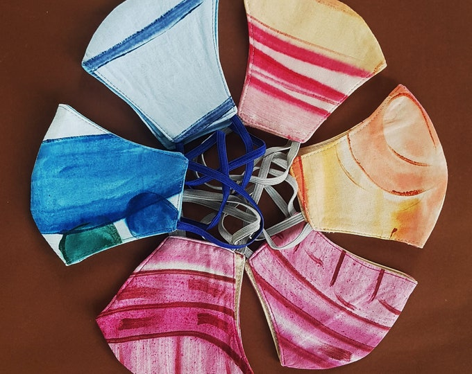 Fashion Style Face Mask, Washable, Reusable - Triple Layered Masks - 100% Cotton  As low as 5.00 each - 6 per pack .