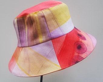 BOB HAT Reversible Summer Bucket Hat, Unisex,  100% Cotton, One size fit most.