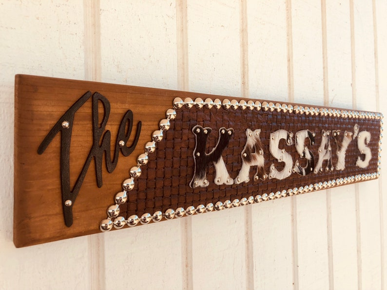 0ef2558a Western Ranch Decor Cowhide Letter PERSONALIZED Name Sign | Etsy