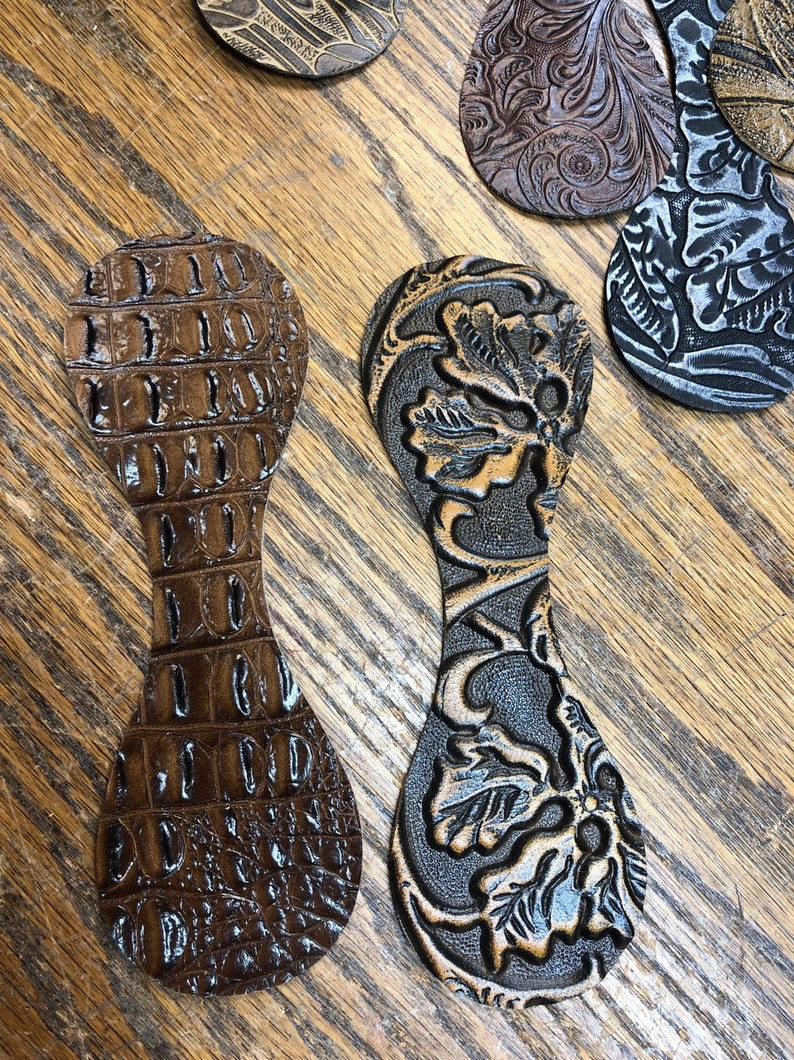 12 Perfect Pre-cut Assorted Hair On Cowhide ot Embossed Leathet Key ring Fob or Teardrops Scraps for Crafts