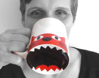 Cup of coffee mug meal cat
