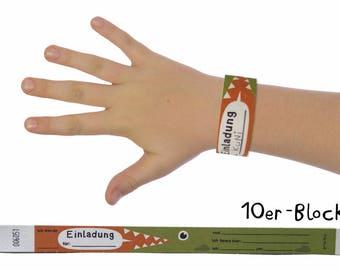 """invitation wristbands (10 straps) """"crocodile"""""""