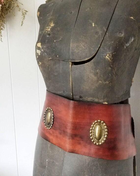 Unisex leather harness. Vintage western leather ha