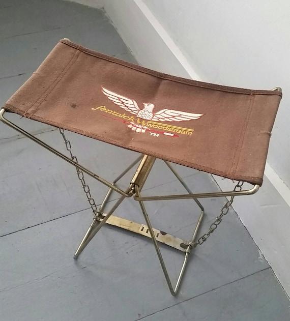 Vintage Fenwick Woodstream Pche Et Camping Chaise Pliante