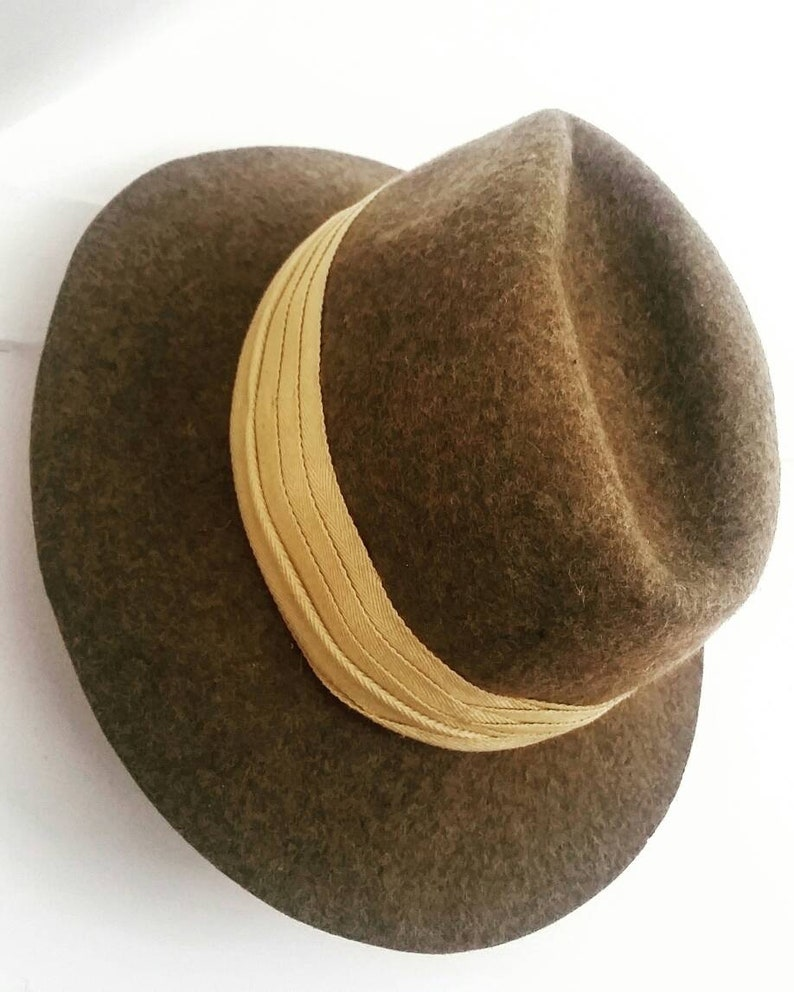 Vintage L.L. Bean Wool hat. Vintage Wool fedora. Brown wool  304c0026ad1b