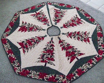 Reversible Christmas Tree Skirt #91 Quilted