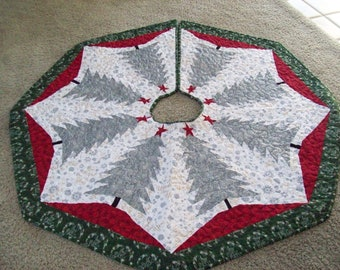 Christmas Tree Skirt #88 Quilted Reversible