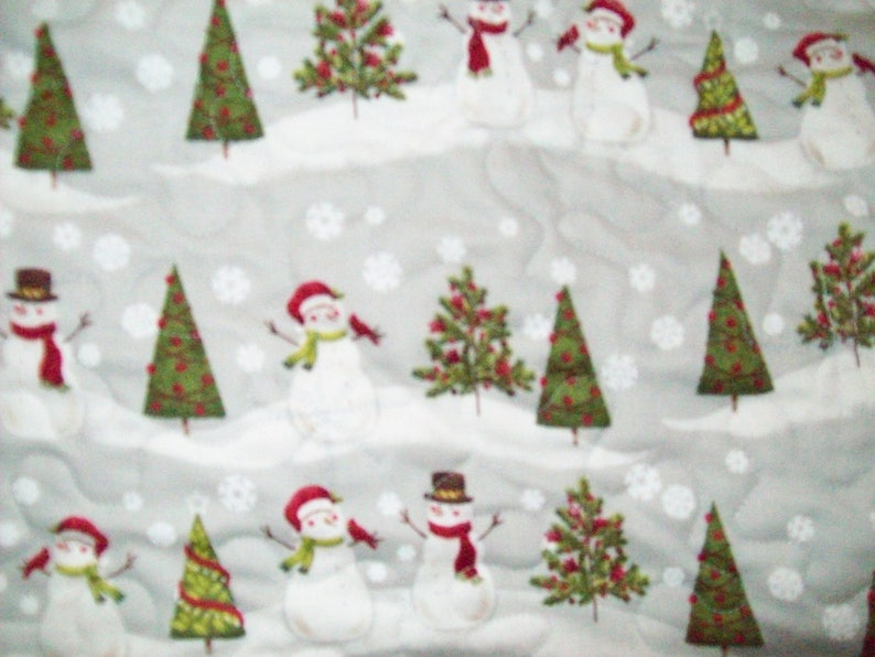 64 Larger Christmas Tree Skirt #16L Quilted Reversible