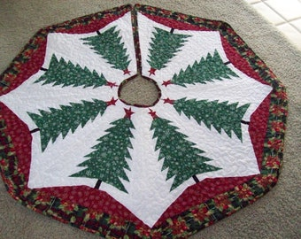 Christmas Tree Skirt #87 Quilted Reversible