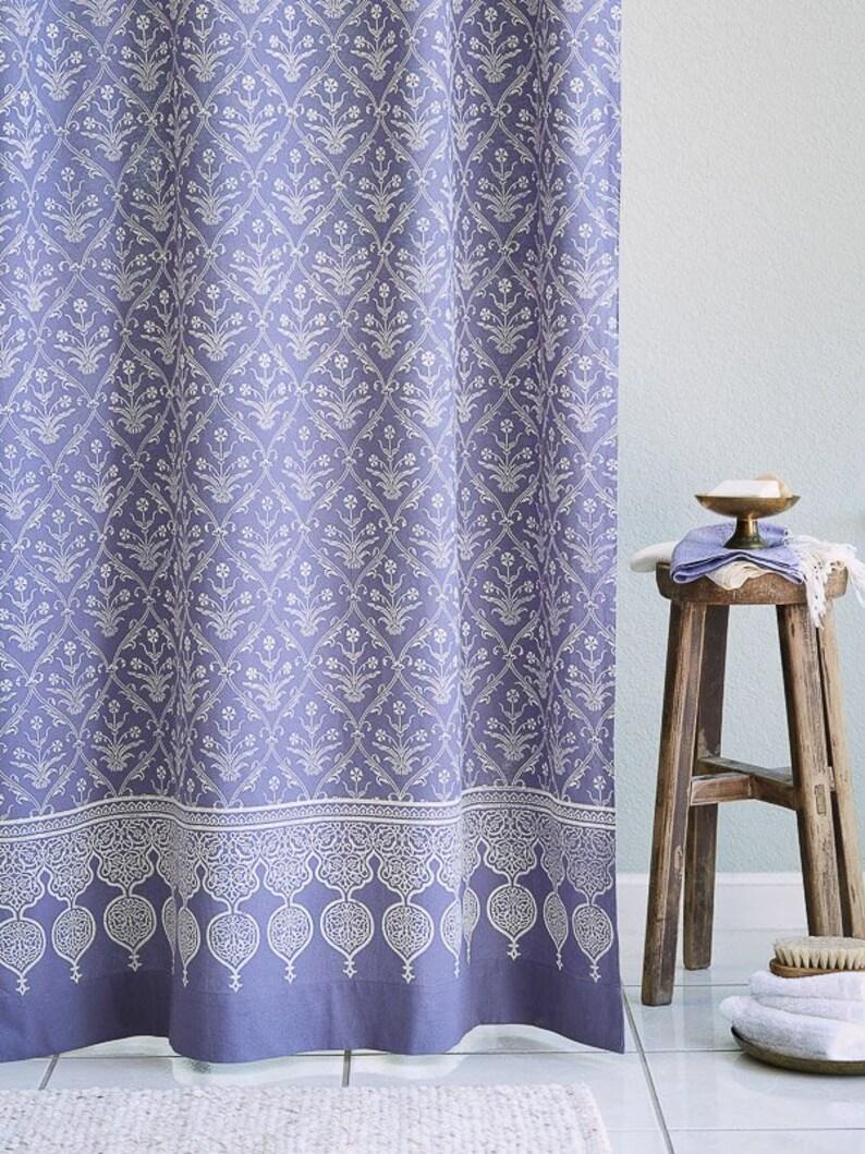 Victorian Lilac Purple Floral Boho Lavender Shower Curtain