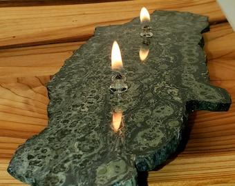 Crocodile Jasper Oil Candle 2 - 2 wick