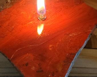 Chestnut Jasper Oil Candle 1