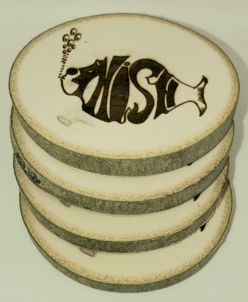 Aspen Coasters Etched Set of 4  Phish inspired image 1