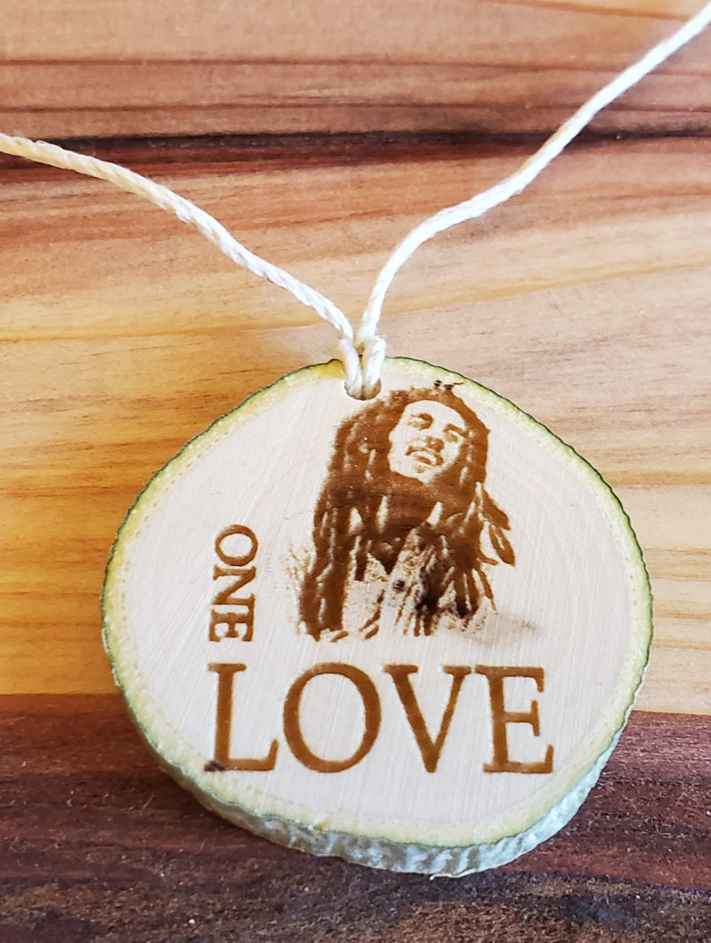 Aspen Pendant Hemp Necklace  Bob Marley One Love image 1