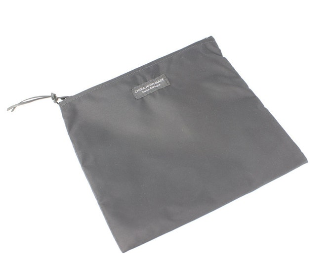 Nylon Pouch 8x8 inch basic black nylon zipper  use for travel, snacks, cosmetics, a tool bag, photo-video gear, and more!