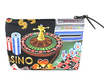 """7"""" Casino Pouch Makeup Cosmetic Bag"""