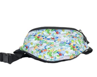 Fanny pack Beach Sea glass fabric - Cute  - Hip Bag for travel, sport, and hiking