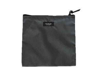 Nylon Pouch 8x8 inch gunmetal grey nylon zipper  use for travel, snacks, cosmetics, a tool bag, photo-video gear, and more!